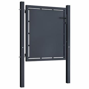 vidaXL Vrtna vrata čelična 100 x 75 cm antracit