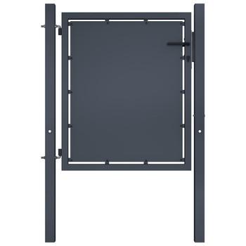 vidaXL Vrtna vrata čelična 100 x 100 cm antracit