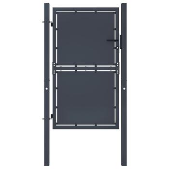 vidaXL Vrtna vrata čelična 100 x 200 cm antracit
