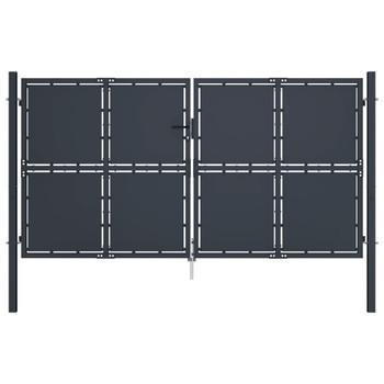 vidaXL Vrtna vrata čelična 300 x 200 cm antracit