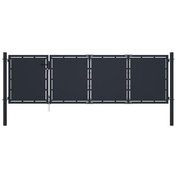 vidaXL Vrtna vrata čelična 350 x 75 cm antracit