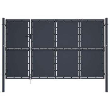 vidaXL Vrtna vrata čelična 350 x 150 cm antracit