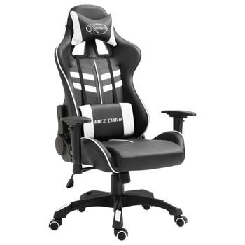 vidaXL Igraća stolica od umjetne kože bijela