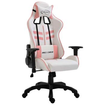 vidaXL Igraća stolica od umjetne kože ružičasta