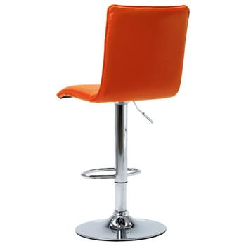 vidaXL Barska stolica od umjetne kože narančasta