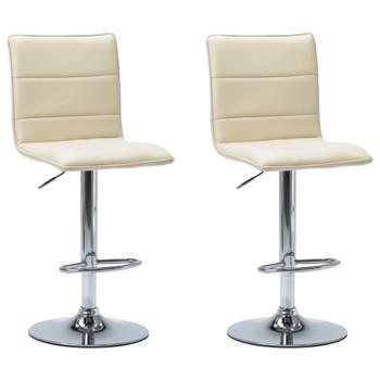 vidaXL Barske stolice od umjetne kože 2 kom krem