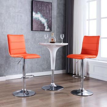vidaXL Barske stolice od umjetne kože 2 kom narančaste