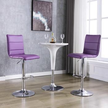 vidaXL Barske stolice od umjetne kože 2 kom ljubičaste