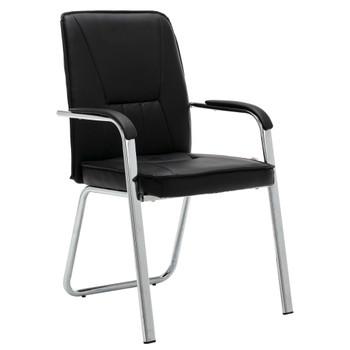 vidaXL Uredska stolica od umjetne kože crna