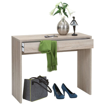 FMD radni stol sa Å¡irokom ladicom 100 x 40 x 80 cm boja hrasta