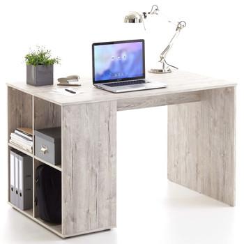 FMD radni stol s bočnim policama 117x73x75 cm boja pijeska i hrasta