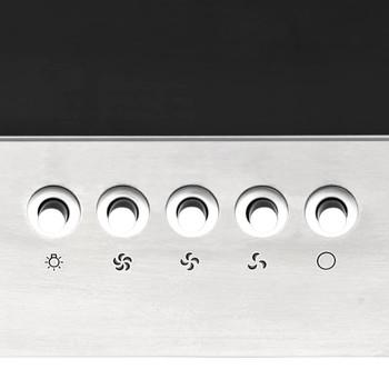 vidaXL Zidna napa 60 cm nehrđajući čelik i kaljeno staklo srebrna