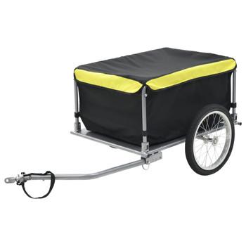 vidaXL Prikolica za bicikl crno-žuta 65 kg