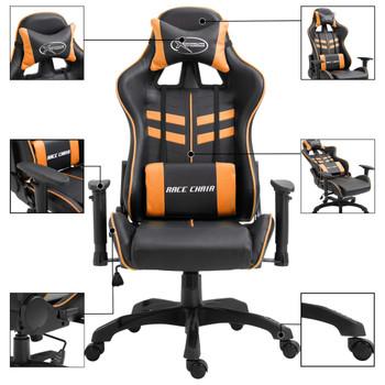 vidaXL Igraća stolica od umjetne kože narančasta