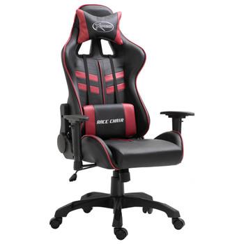 vidaXL Igraća stolica od umjetne kože crvena boja vina