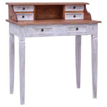 vidaXL Pisaći stol s ladicama 90 x 50 x 101 cm masivno obnovljeno drvo