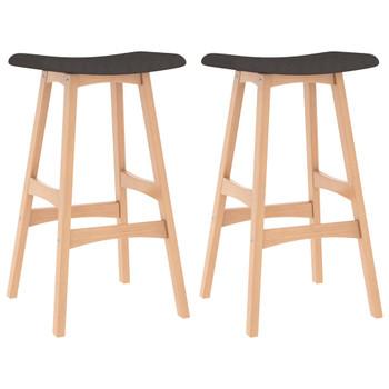 vidaXL Barski stolci od tkanine 2 kom smeđi