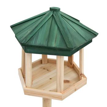 vidaXL Samostojeća hranilica za ptice od masivne jelovine 33 x 106 cm