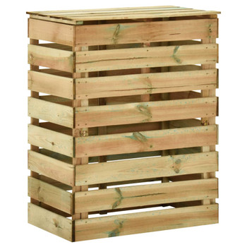 vidaXL Rešetkasti vrtni komposter 80x50x100 cm impregnirana borovina