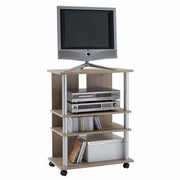 FMD stalak za TV/Hi-Fi s 3 odjeljka 65 x 40 x 79,2 cm od hrastovine