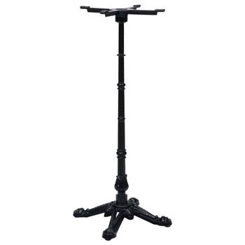 vidaXL Noga za bistro stol crna 52 x 52 x 108 cm od lijevanog željeza
