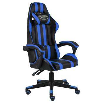 vidaXL Igraća stolica od umjetne kože crno-plava
