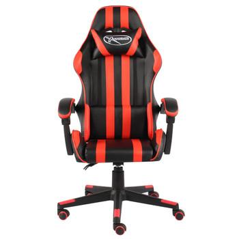 vidaXL Igraća stolica od umjetne kože crno-crvena