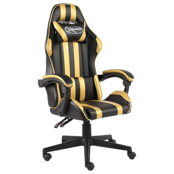 vidaXL Igraća stolica od umjetne kože crno-zlatna