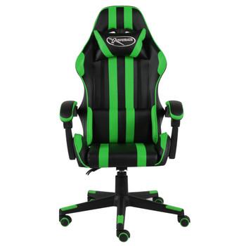 vidaXL Igraća stolica od umjetne kože crno-zelena