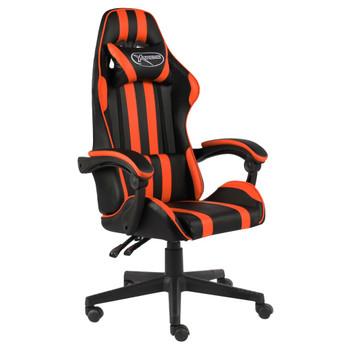 vidaXL Igraća stolica od umjetne kože crno-narančasta