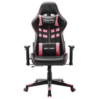 vidaXL Igraća stolica od umjetne kože bijelo-ružičasta
