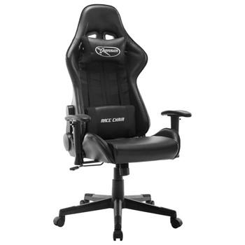 vidaXL Igraća stolica od umjetne kože bijelo-crna