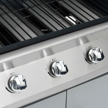 vidaXL Plinski roštilj s 4 +1 zonom za kuhanje crno-srebrni