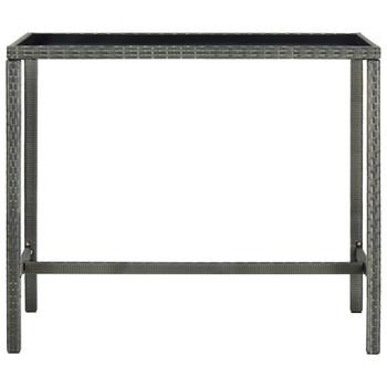 vidaXL Vrtni barski stol sivi 130 x 60 x 110 cm od poliratana i stakla