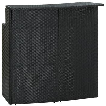 vidaXL Vrtni barski stol crni 120 x 55 x 110 cm od poliratana