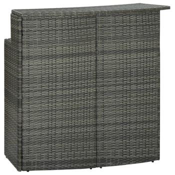 vidaXL Vrtni barski stol sivi 120 x 55 x 110 cm od poliratana