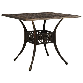 vidaXL Vrtni stol brončani 90 x 90 x 73 cm od lijevanog aluminija