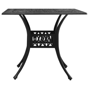 vidaXL Vrtni stol crni 90 x 90 x 73 cm od lijevanog aluminija