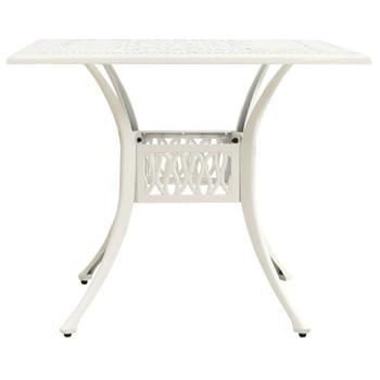 vidaXL Vrtni stol bijeli 90 x 90 x 73 cm od lijevanog aluminija