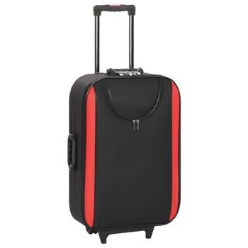 vidaXL Mekani kovčezi s kotačima 3 kom crni od tkanine Oxford