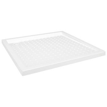 vidaXL Podloga za tuširanje s točkicama bijela 90 x 90 x 4 cm ABS