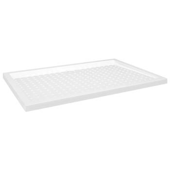 vidaXL Podloga za tuširanje s točkicama bijela 80 x 120 x 4 cm ABS
