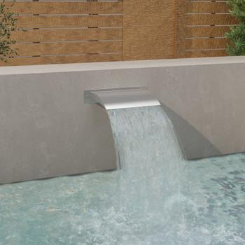 vidaXL Fontana za bazen srebrna 45 x 9 x 26 cm od nehrđajućeg čelika
