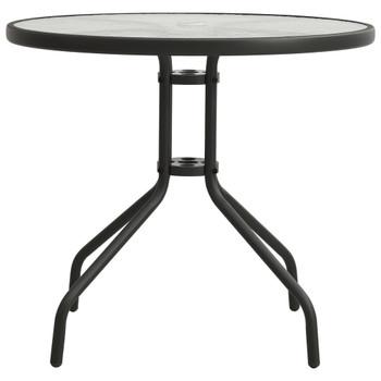 vidaXL Bistro stol antracit Ø 80 x 71 cm čelični