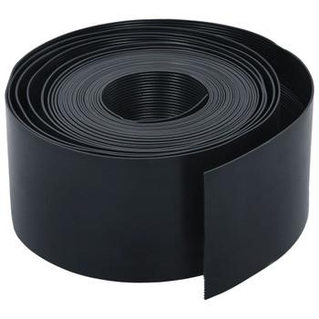 vidaXL Vrtna ivica crna PE 10 m 20 cm