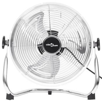 vidaXL Podni ventilator s 3 brzine 40 cm 40 W kromirani