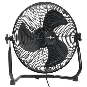 vidaXL Podni ventilator s 3 brzine 40 cm 40 W crni