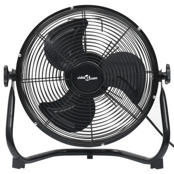 vidaXL Podni ventilator s 3 brzine 55 cm 100 W crni