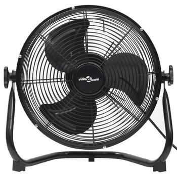 vidaXL Podni ventilator s 3 brzine 60 cm 120 W crni