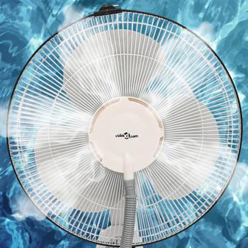 vidaXL Ventilator na postolju s maglicom 3 brzine puhanja bijeli